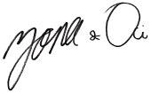 tanda tangan honeylane